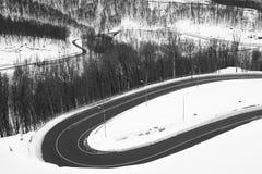 krasnodar bergregionväg russia Arkivbild
