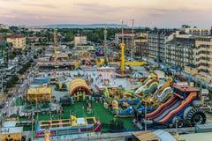 Vizantia amusement сoastal park. Tourist town with hotels