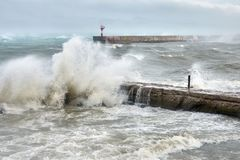 Hurricane storm in the Black Sea stock photo