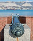 Monument cannon stock image