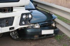 KRASNODAR-REGION, RUSSLAND - 28. MÄRZ 2018: Schaden eines Autos als a Stockfoto