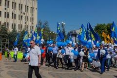 Krasnodar Rosja, Maj, - 1, 2017: Partia LIBERALNO-DEMOKRATYCZNA Rus Zdjęcia Stock