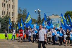 Krasnodar Rosja, Maj, - 1, 2017: Partia LIBERALNO-DEMOKRATYCZNA Rus Zdjęcia Royalty Free