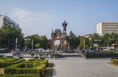 The monument to St. Catherine, Krasnodar. KRASNODAR / RUSSIA - JULY, 29, 2016: The monument to St. Catherine in Krasnodar city Royalty Free Stock Photos