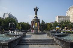 The monument to St. Catherine, Krasnodar. KRASNODAR / RUSSIA - JULY, 29, 2016: The monument to St. Catherine in  Krasnodar city Royalty Free Stock Image