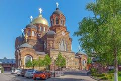 KRASNODAR, RUSSIA - 2 MAGGIO 2017: Cattedrale del ` s della st Catherine fotografie stock libere da diritti