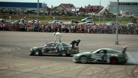 KRASNODAR, RUSSIA - MAY 24, 2015:  Sport race car stock video footage