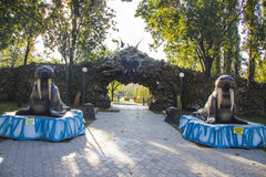 Krasnodar zoo. Entrance Royalty Free Stock Photography