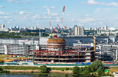 Krasnogorsk Rosja, Lipiec, - 09 2016 Budowy centrum biznesu VEGAS krokusa miasto Zdjęcie Stock