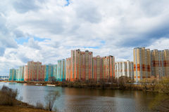 KRASNOGORSK, RUSSIA - APRIL 18,2015. Krasnogorsk is city and center of Krasnogorsky District in Moscow Oblast located on Moskva Ri Royalty Free Stock Photos