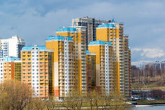 KRASNOGORSK, RUSSIA - APRIL 18,2015. Krasnogorsk is city and center of Krasnogorsky District in Moscow Oblast located on Moskva Ri Stock Photography