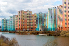 KRASNOGORSK, RUSSIA - APRIL 18,2015. Krasnogorsk is city and center of Krasnogorsky District in Moscow Oblast located on Moskva Ri Royalty Free Stock Images