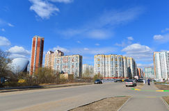 KRASNOGORSK, RUSSIA - APRIL 22,2015: Krasnogorsk is city and center of Krasnogorsky District in Moscow Oblast located on Moskva Ri Royalty Free Stock Photos