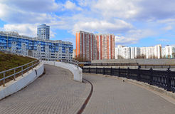 KRASNOGORSK, RUSSIA - APRIL 22,2015: The new construction districts in  suburbs. Area of residential development on about 2 millio Stock Photography