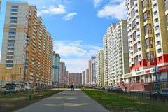 KRASNOGORSK, RUSSLAND - APRIL 22,2015: Krasnogorsk Stockfoto