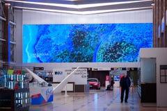 Krasnojarsk-Flughafen krasnoyarsk Russia-17 02 2019 Willkommensschild für das KRASNOJARSK, RUSSLAND - 9. Januar 2018: a stockfoto