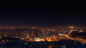 Krasnojarsk nachts stockfotografie