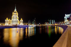 Krasnopresnenskaya embankment in Moscow Royalty Free Stock Photography