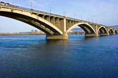 krasnoyarsk моста Стоковые Фото