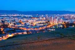 Krasnoyarsk aerial panoramic view Royalty Free Stock Image