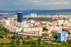 Krasnoyarsk aerial panoramic view Royalty Free Stock Images