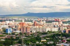 Krasnoyarsk aerial panoramic view Stock Image
