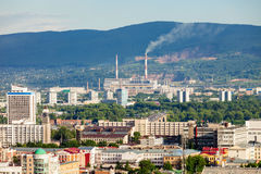 Krasnoyarsk aerial panoramic view Stock Photography