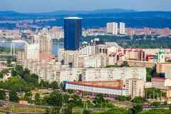 Krasnoyarsk aerial panoramic view Royalty Free Stock Photo