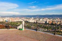 Krasnoyarsk aerial panoramic view Stock Photo