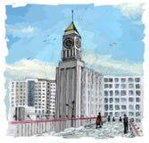 Krasnoyarsk Big Ben vector illustration