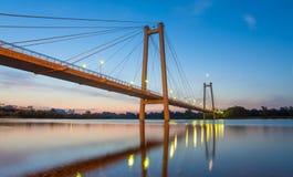 Krasnoyarsk bridge Royalty Free Stock Photography