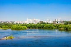 Krasnoyarsk city on Yenisey Stock Images