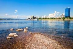 Krasnoyarsk city on Yenisey Royalty Free Stock Photos