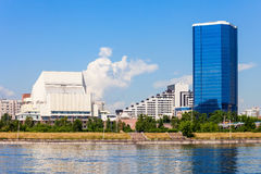 Krasnoyarsk city on Yenisey Stock Photo