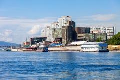 Krasnoyarsk city on Yenisey Stock Photos