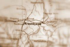 Krasnoyarsk, een stad in Rusland royalty-vrije stock foto's