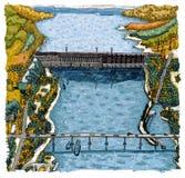 Krasnoyarsk hydroelectric power station Royalty Free Stock Photos