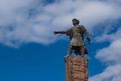 Krasnoyarsk, marzec 29, 2019: zabytek założyciel Dubensky, timelapse zdjęcia stock