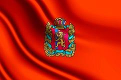 Krasnoyarsk realistic flag illustration. Usable for Background and Texture vector illustration