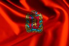 Krasnoyarsk realistic flag illustration. Usable for Background and Texture stock illustration