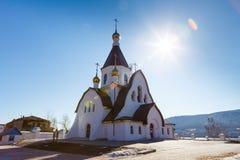 Krasnoyarsk, Russia - April 2, 2015: excursion to the Uspensky m Stock Photos