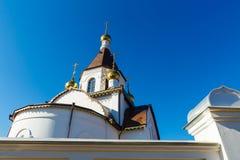 Krasnoyarsk, Russia - April 2, 2015: excursion to the Uspensky m Royalty Free Stock Photography