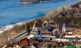 Krasnoyarsk, Russia - April 2, 2015: excursion to the Uspensky m Stock Image
