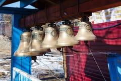 Krasnoyarsk, Russia - April 2, 2015: excursion to the Uspensky m Stock Images