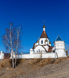 Krasnoyarsk, Russia - April 2, 2015: excursion to the Uspensky m Stock Photography