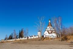 Krasnoyarsk, Russia - April 2, 2015: excursion to the Uspensky m Royalty Free Stock Image
