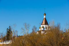 Krasnoyarsk, Russia - April 2, 2015: excursion to the Uspensky m Royalty Free Stock Images