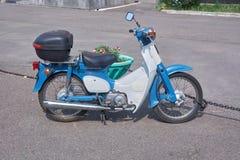 Honda 50 std. Krasnoyarsk, Russia - July 27, 2018: Vintage small motorcycle Honda 50 std royalty free stock image