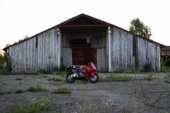 KRASNOYARSK, RUSSIA - MAY 25, 2018: Red and black sportbike Honda CBR 600 RR 2005 PC37.  stock image