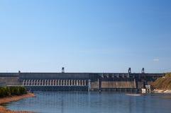 Krasnoyarsk Wasserkraftwerk stockbild